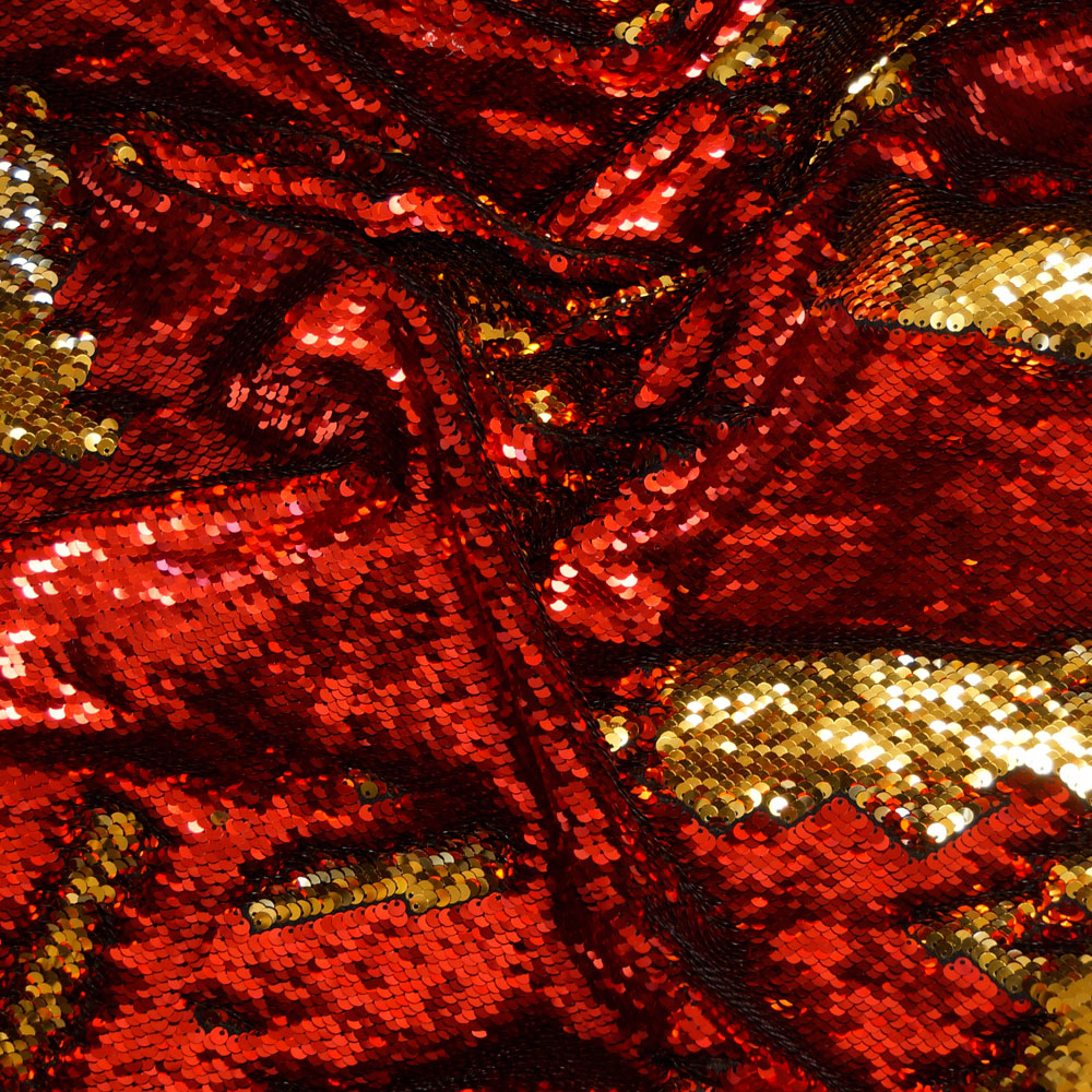 Red and Gold Reversible Sequin
