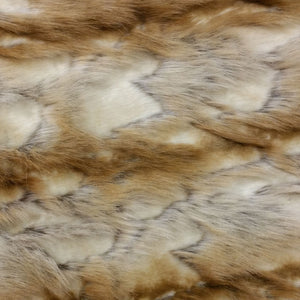 Copper & White Brandy Fox Long Pile Faux Fur Fabric