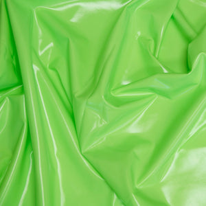 Neon Green Liquid Stretch Vinyl Fabric