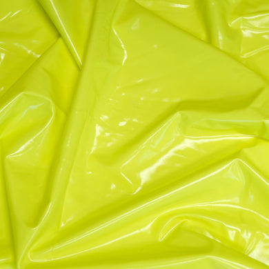 Neon Yellow Liquid Stretch Vinyl Fabric