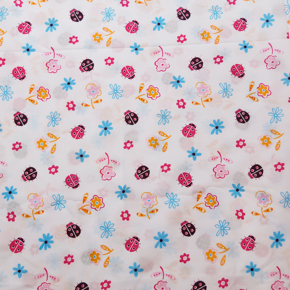 Ladybugs in Spring 100% Cotton Fabric