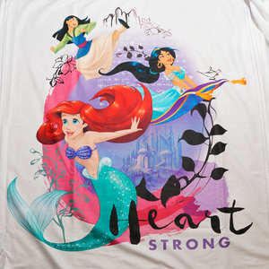 Licensed Disney Princess Heart Strong Panel 100% Cotton