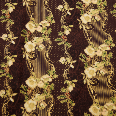 Madeline Gold Foil Print 100% Cotton Fabric