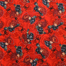 Licensed Marvel's Black Widow  Red 100% Cotton Fabric