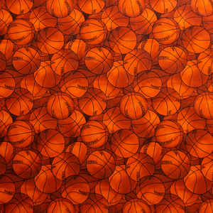Basketballs Print 100% Cotton Fabric