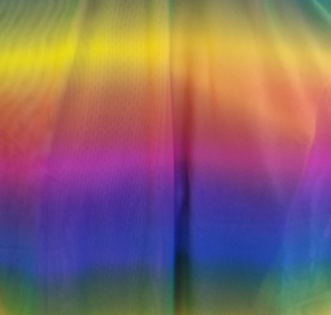 Colorful Stretch Power Mesh Fabric- Rainbow