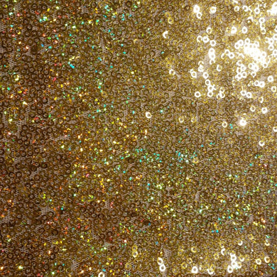 Gold Holographic Mini Glitz Sequin Fabric