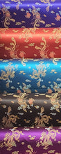 Chinese Dragon Satin Brocade Fabric - Purple