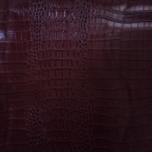 Dark Brown Alligator Crocodile texture vinyl fabric