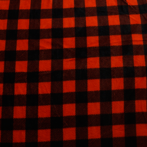 Red and Black Plaid Anti-pill Fleece Fabric