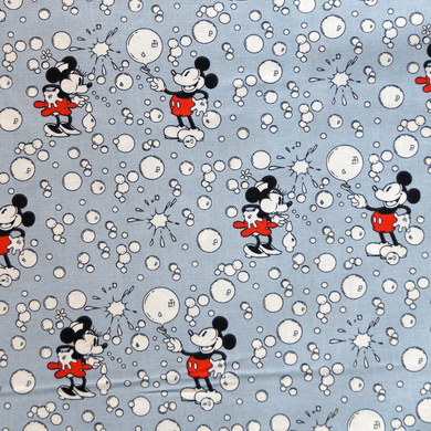 Disney Licensed Mickey and Minnie with Bubbles 100% Cotton Fabric