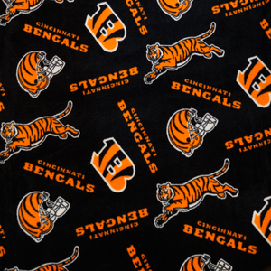 NFL Licensed Cincinnatti Bengals Fleece Fabric