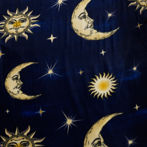 Celestial Moons and Stars Fleece Fabric