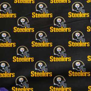 NFL Licensed Pittsburg Steelers 100% Cotton Fabric