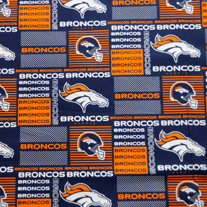 NFL Licensed Denver Broncos 100% Cotton Fabric