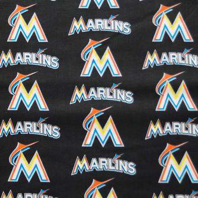 MLB Licensed Miami Marlins 100% Cotton Fabric