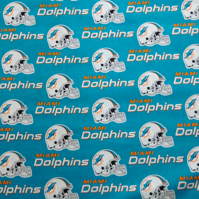 NFL Licensed Miami Dolphins 100% Cotton Fabric