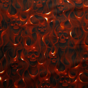 Skulls on Fire - Alexander Henry 100% Cotton Fabric