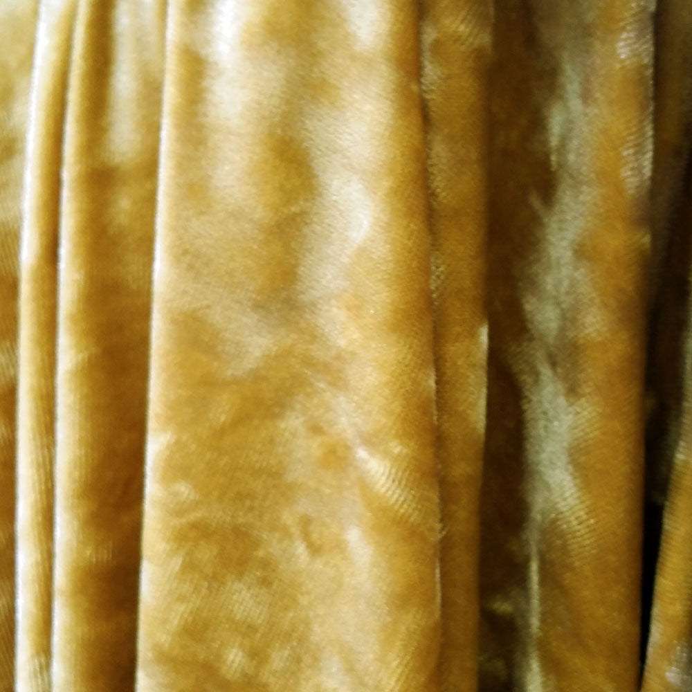 Luxurious Gold Ice Velvet Fabric by the Yard