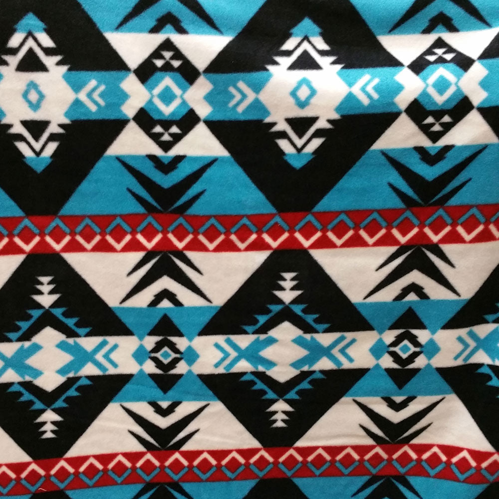 Black Diamonds Southwest Fleece Fabric