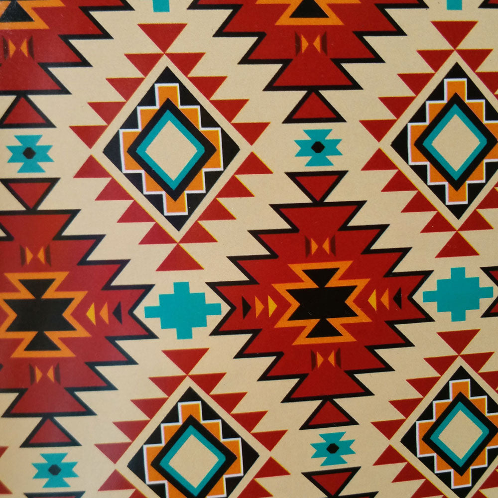 Rust and Turquoise Southwest Tribal Print 100% Cotton