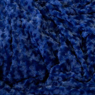 Navy Blue Minky Rosebud Fur