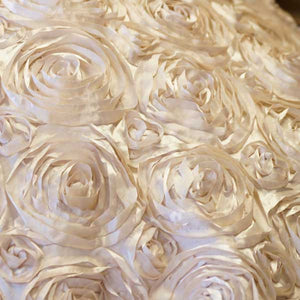 Lt Gold Rosette Satin Fabric