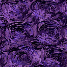 Purple Rosette Satin Fabric