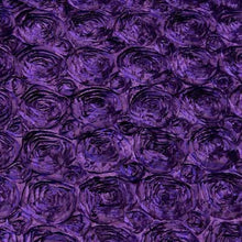 Purple Rosette Satin