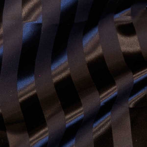 Black Striped Satin Jacquard Fabric