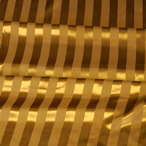 Dark Gold Striped Satin Jacquard