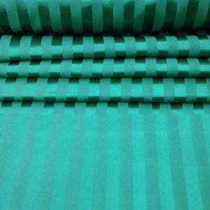 Hunter Green Striped Satin Jacquard