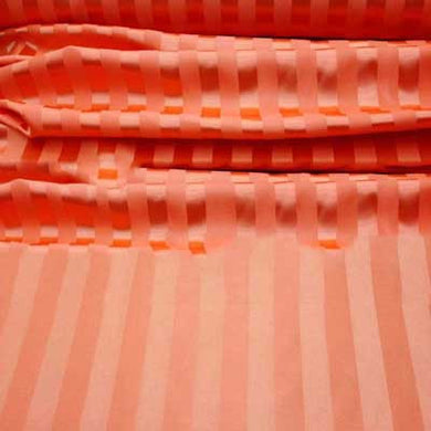 Orange Striped Satin Jacquard