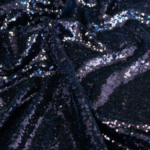 Black Mini Glitz Sequin Fabric