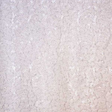 White Mini Glitz Sequin Fabric - 1/2 yd