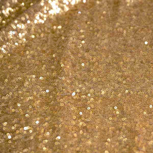 Matte Gold Mini Glitz Sequin Fabric - Reduced Price