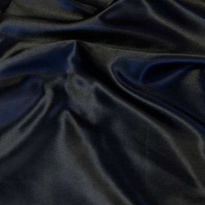 Black Charmeuse Satin Fabric by the Yard