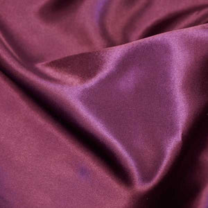 Plum Charmeuse Satin Fabric