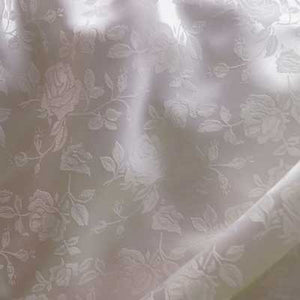 White Rose Satin Jacquard