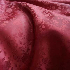 Burgundy Rose Satin Jacquard