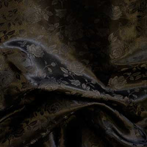 Black Rose Satin Jacquard