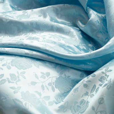 Baby Blue Rose Satin Jacquard