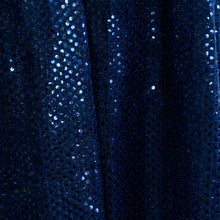 Navy Blue Confetti Dot Sequin Fabric