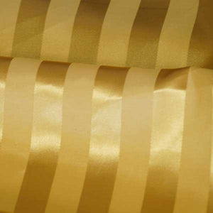 Bright Gold Striped Satin Jacquard Fabric