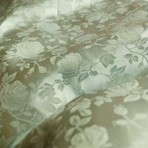 Sage Green Rose Satin Jacquard