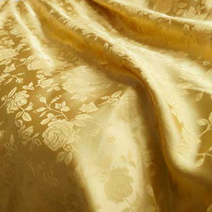 Soft Gold Rose Satin Jacquard