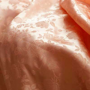 Peach Rose Satin Jacquard