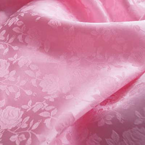Pink Rose Satin Jacquard