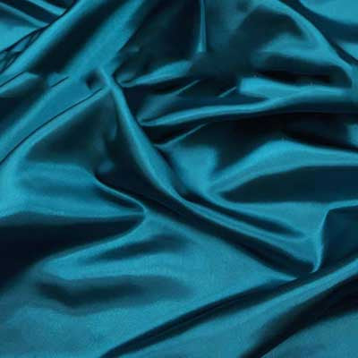 Teal Bridal Satin