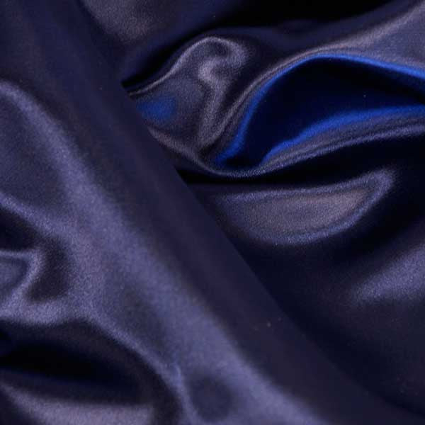 Navy Blue Bridal Satin Fabric by the Yard
